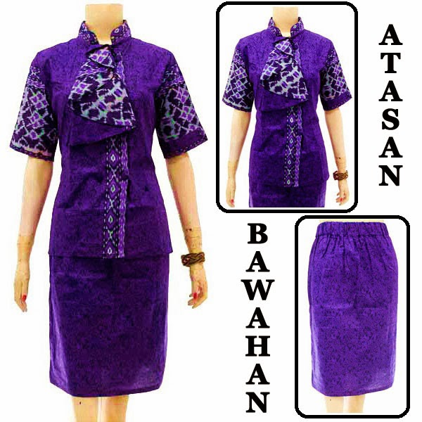 DB3732 Model Baju Dress Batik Modern Terbaru 2014