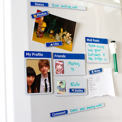 Facebook-style magnets