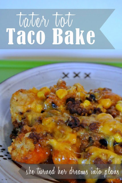 Tater Tot Taco Bake