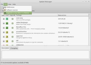 """Bagaimana Cara Upgrade ke Linux Mint Terbaru 17.2 """"Rafaela"""", update manager"""