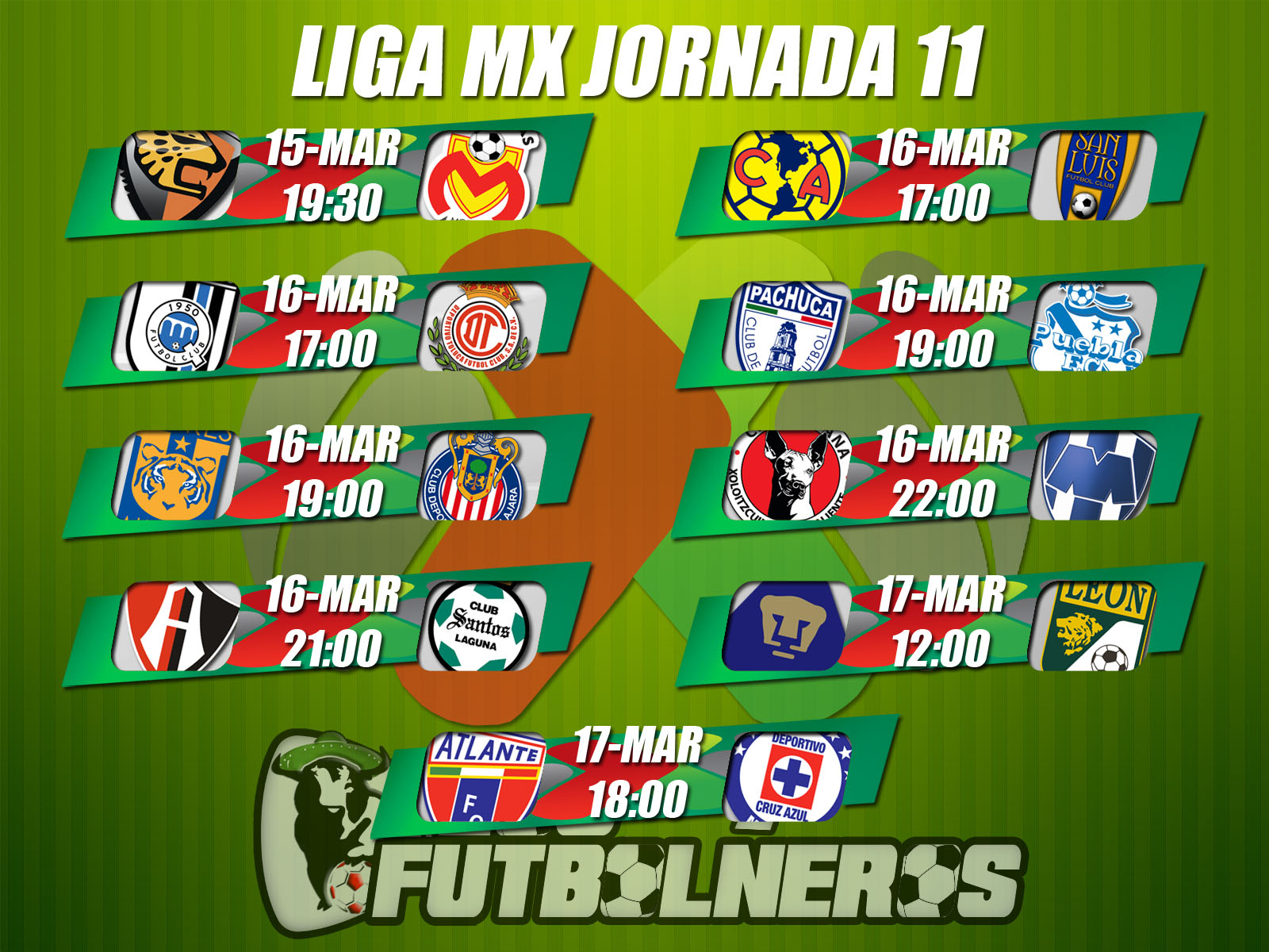 Liga MX Jornada 11. Tabla General Liga Mx. View Original . [Updated on ...
