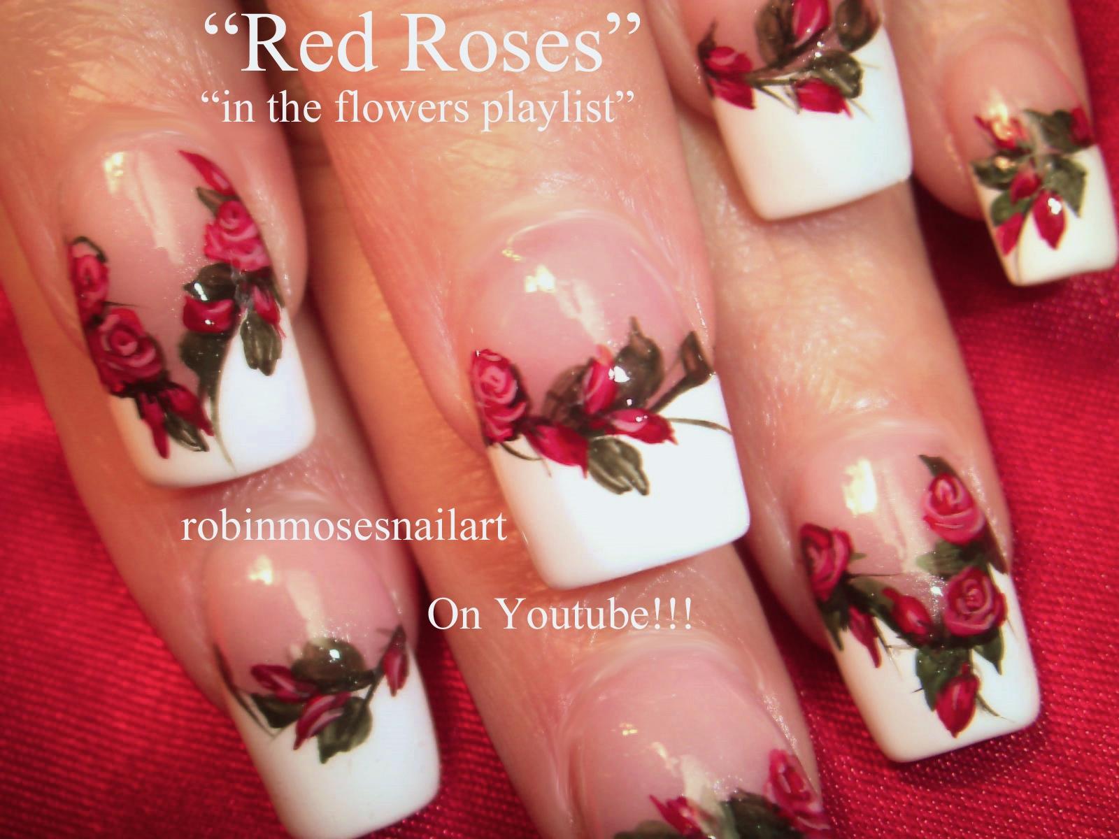 Moses Nail Art: Winter Roses quot;rose nail artquot; quot;roses39; quot