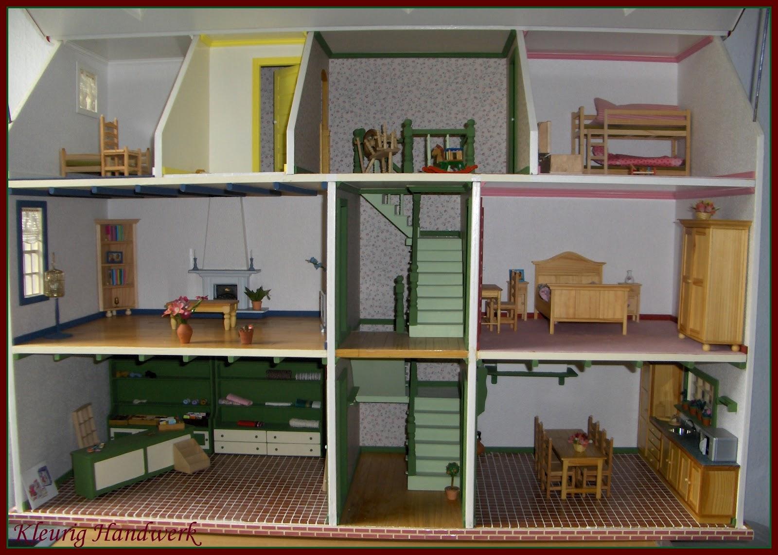 Kleurig handwerk mijn poppenhuis for Poppenhuis bouwen