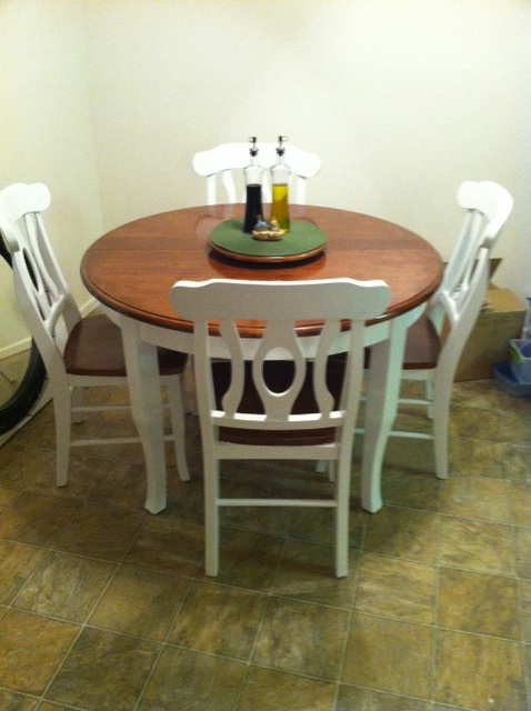 A Piece of Cake Kitchen Table Refinished