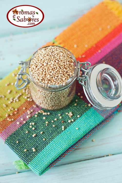 Pipoca de quinoa