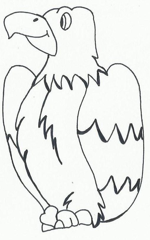 Lujo águila Calva Para Colorear Página Fácil Friso - Páginas Para ...