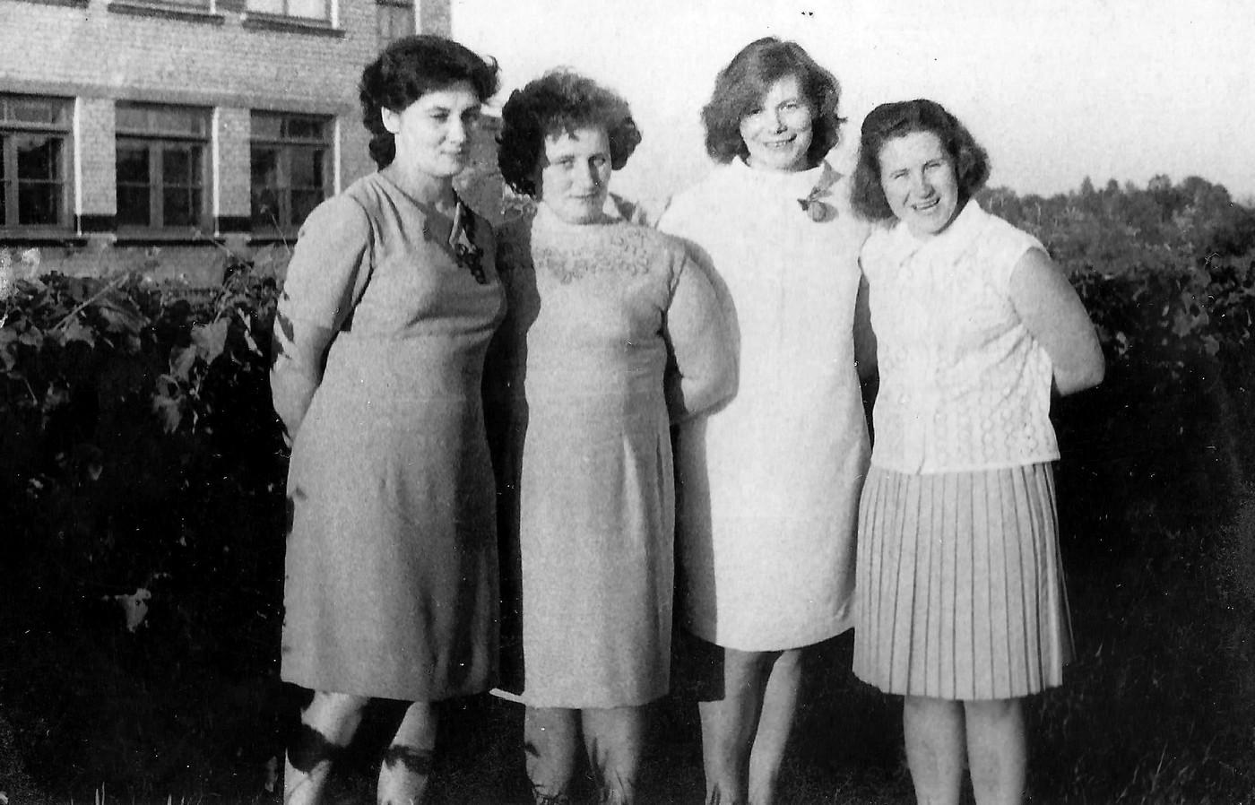 Jaunās Valles 8-gadīgās skolas skolotājas 1960-tie gadi