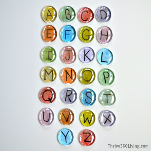 Alphabet Gems ~ DIY game to encourage matching upper and lower case letters