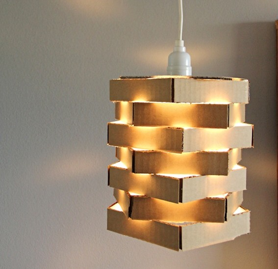 How to recycle recycled corrugated cardboard lampshades aloadofball Gallery