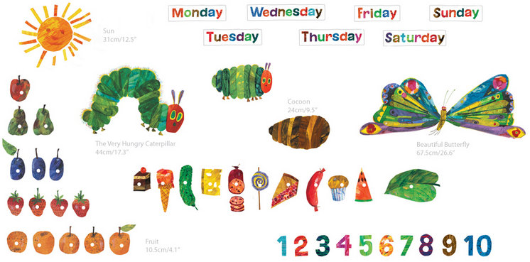the very hungry caterpillar wall decal kit giveaway closed very hungry caterpillar coloring page - Hungry Caterpillar Coloring Pages