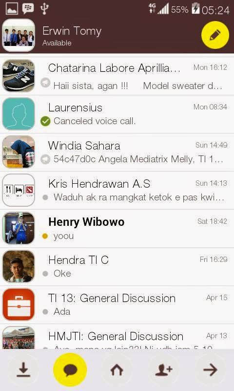 BBM Mod Tema Kakao Talk 2.7.0.23