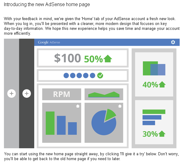 Googles New AdSense interface
