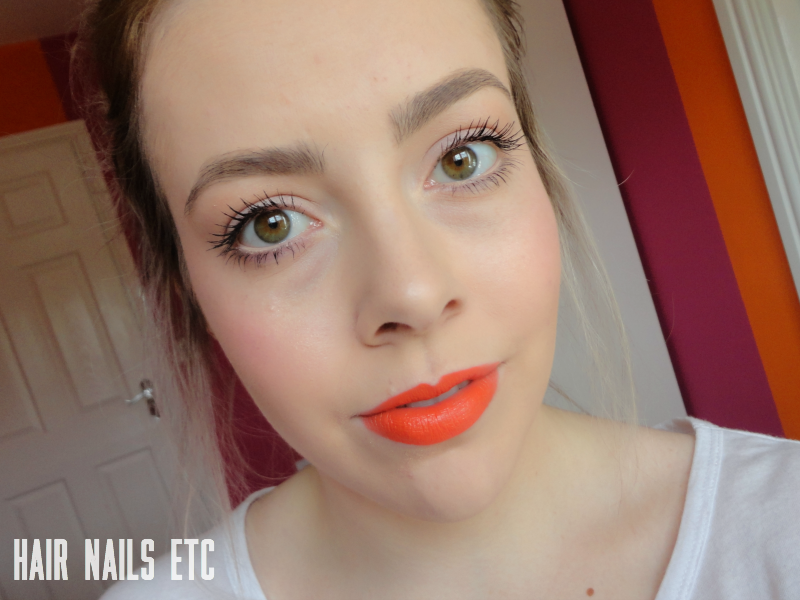 MAC Morange Lipstick - Wash & Dry Collection - Swatch and Review
