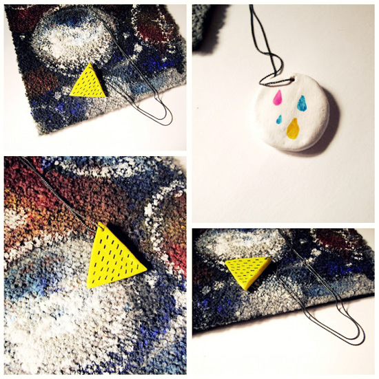 ceramic handmade pendant