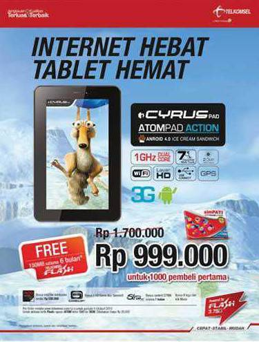 Harga Cyrus Atom Action HD 3G Wifi