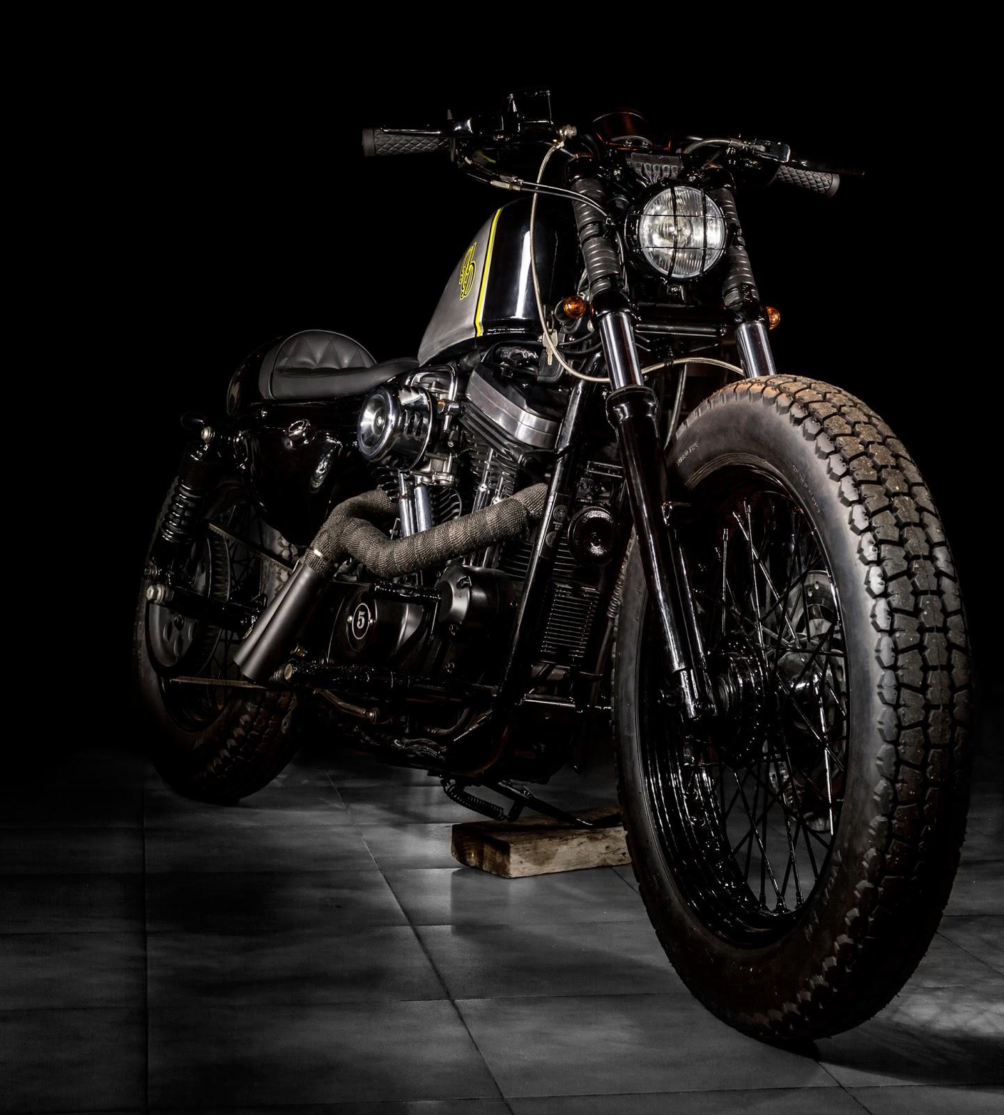 Hell Kustom Harley Davidson Sportster 883 By Macco Motors