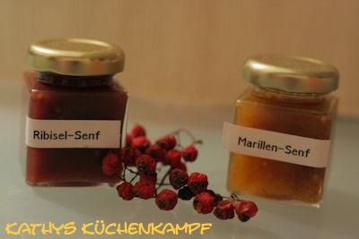 Johannisbeer- und Aprikosen-Senf