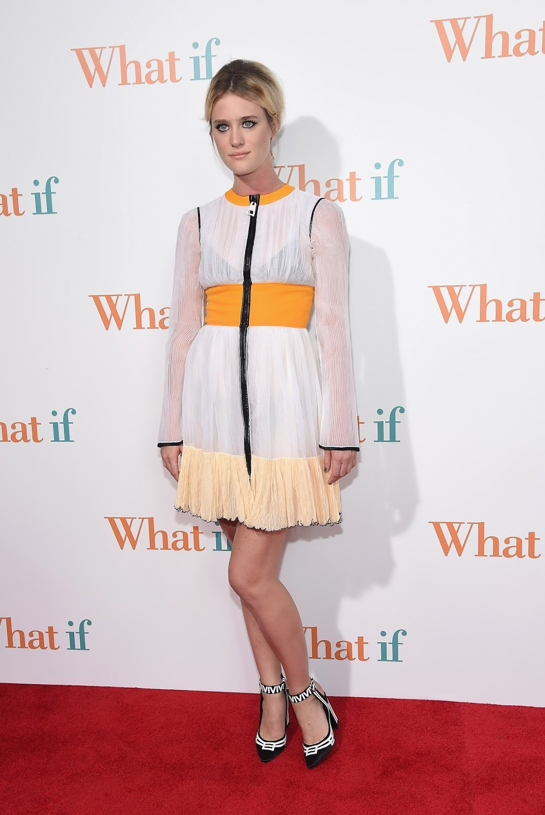 Mackenzie Davis was wearing Louis Vuitton at What If Movie Premiere