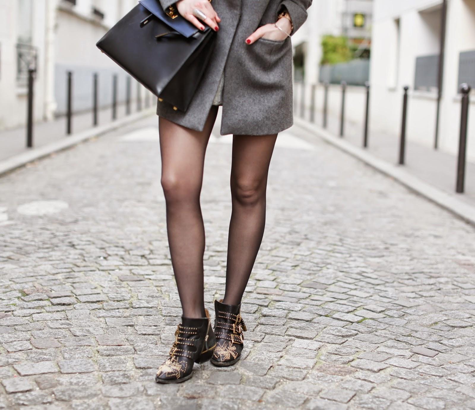 cos, maison michel, chloé susanna, hermès, fur, streetstyle, fashion blogger, paris