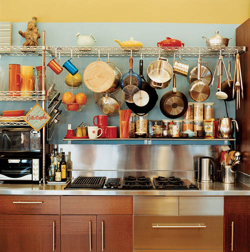 As You Can Tell, This Individual Has A LOT Of Pots And Pans And There Is  NOTHING Wrong With That! Through The Use Of Some Wall Mounted Wire Shelves  And A ...