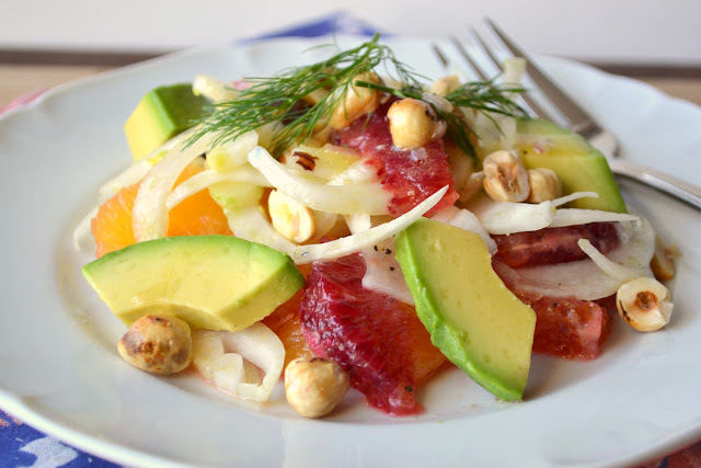 Blood Orange and Fennel Salad with Avocado