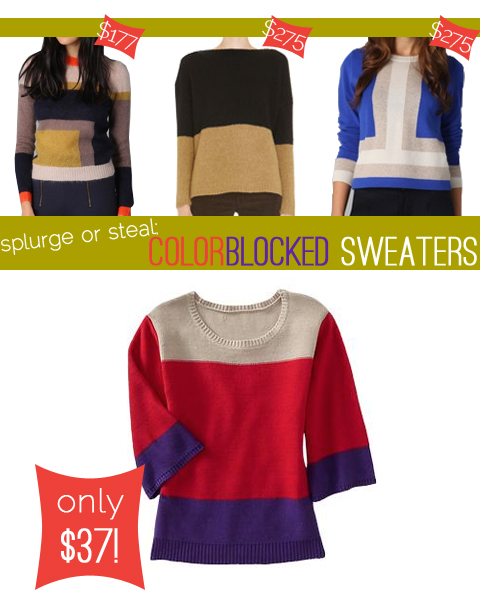 theconcretecatwalk.com : splurge or steal: colorblocked sweaters
