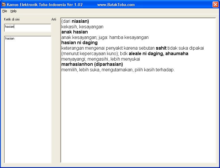Download kamus bahasa batak toba online dating 4