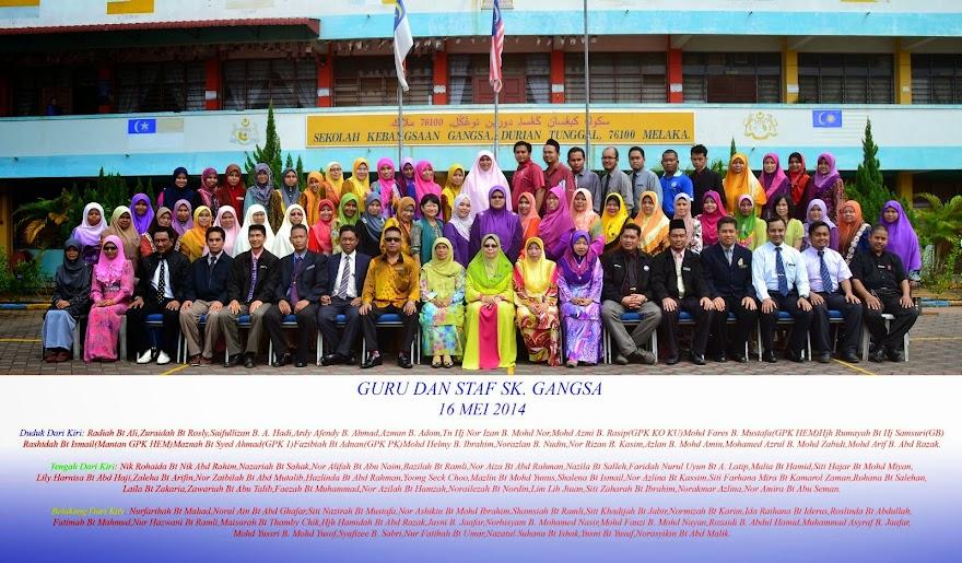 Guru Dan Staf SK. Gangsa 2014