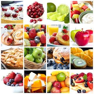 Fotos de postres elaborados con frutas naturales