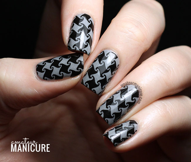 Amateur Manicure A Nail Art Blog Black And Grey Curly