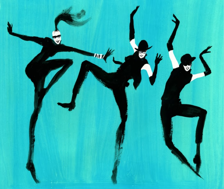 Illustration of women dancing.