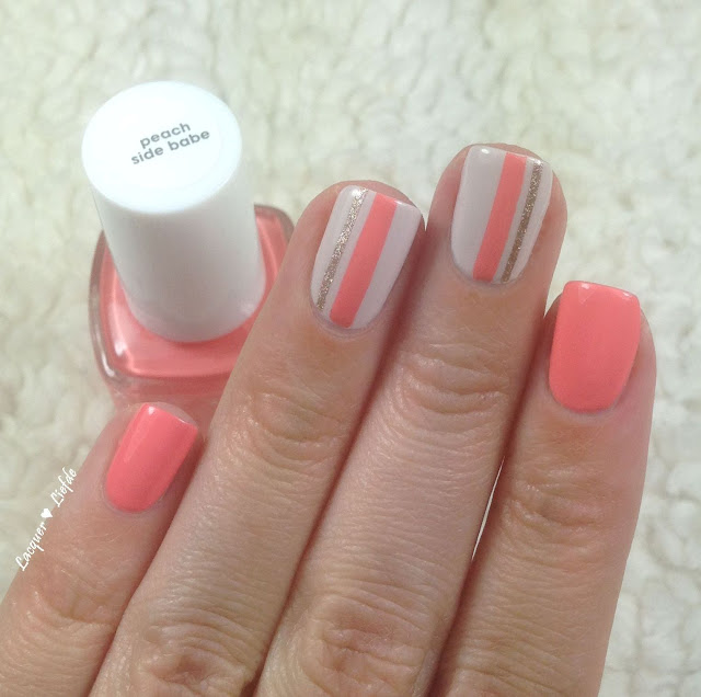 Essie Peach Side Babe EU aus der Surf's Up Sommerkollektion 2015 Nagel Design