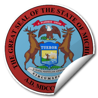 Sticker of Michigan Seal