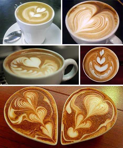 Latte Art Designs : Caramel macchiato latte art