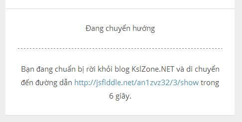 Tạo trang chuyển tiếp tự động cho Blogger