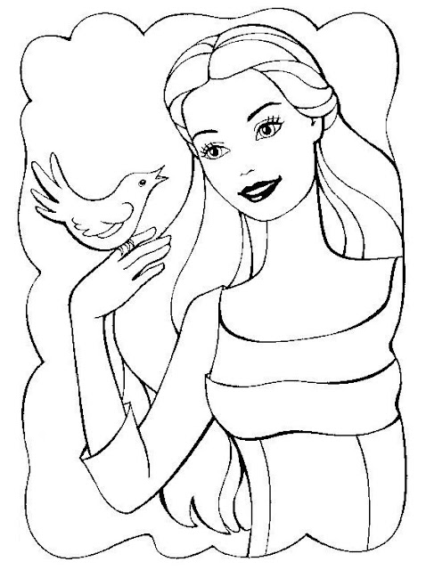 Barbie Coloring Pages for Childrens title=