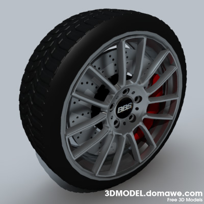 BBS Rims Wheel 3D Model Download. Format c4d, fbx. License tom3d4.com