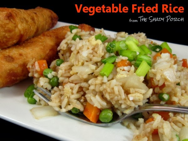 Vegetable Fried Rice served with Homemade Egg Rolls