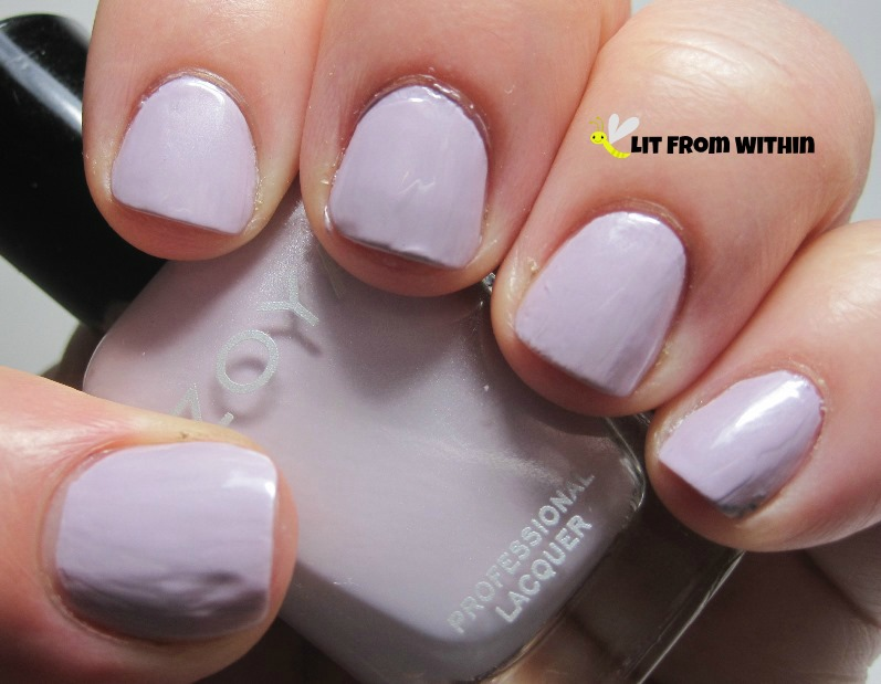 Zoya Marley, a delicate lilac-leaning pink
