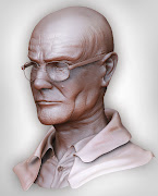 . make a bust of Walter White from the show Breaking Bad! So far so good!