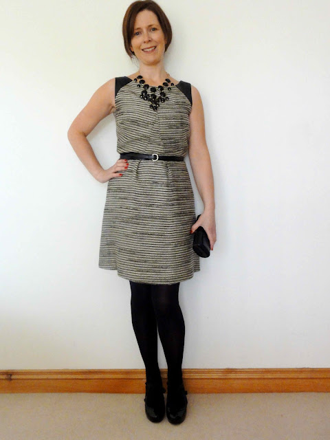 M%2526S+Tweed+Dress2 One M&S Party Dress   Three Ways!