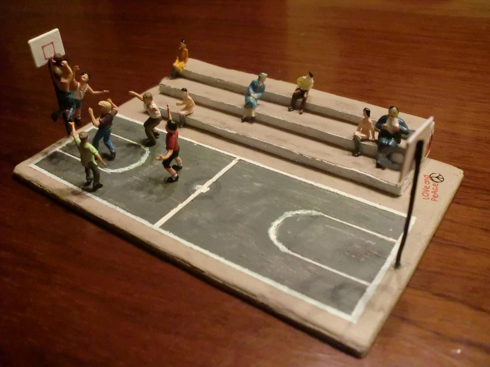 La maqueta de sponsh escala h0 v 4 0 basket al aire for Como hacer gradas