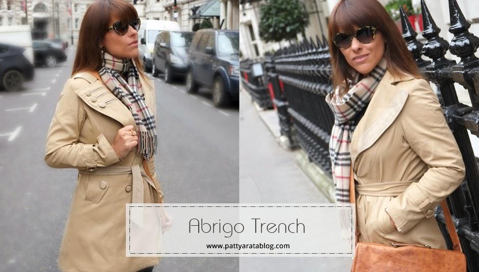 El trench coat abrigo