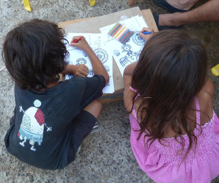 Material didáctico compartido con los pichiqueche (niños)