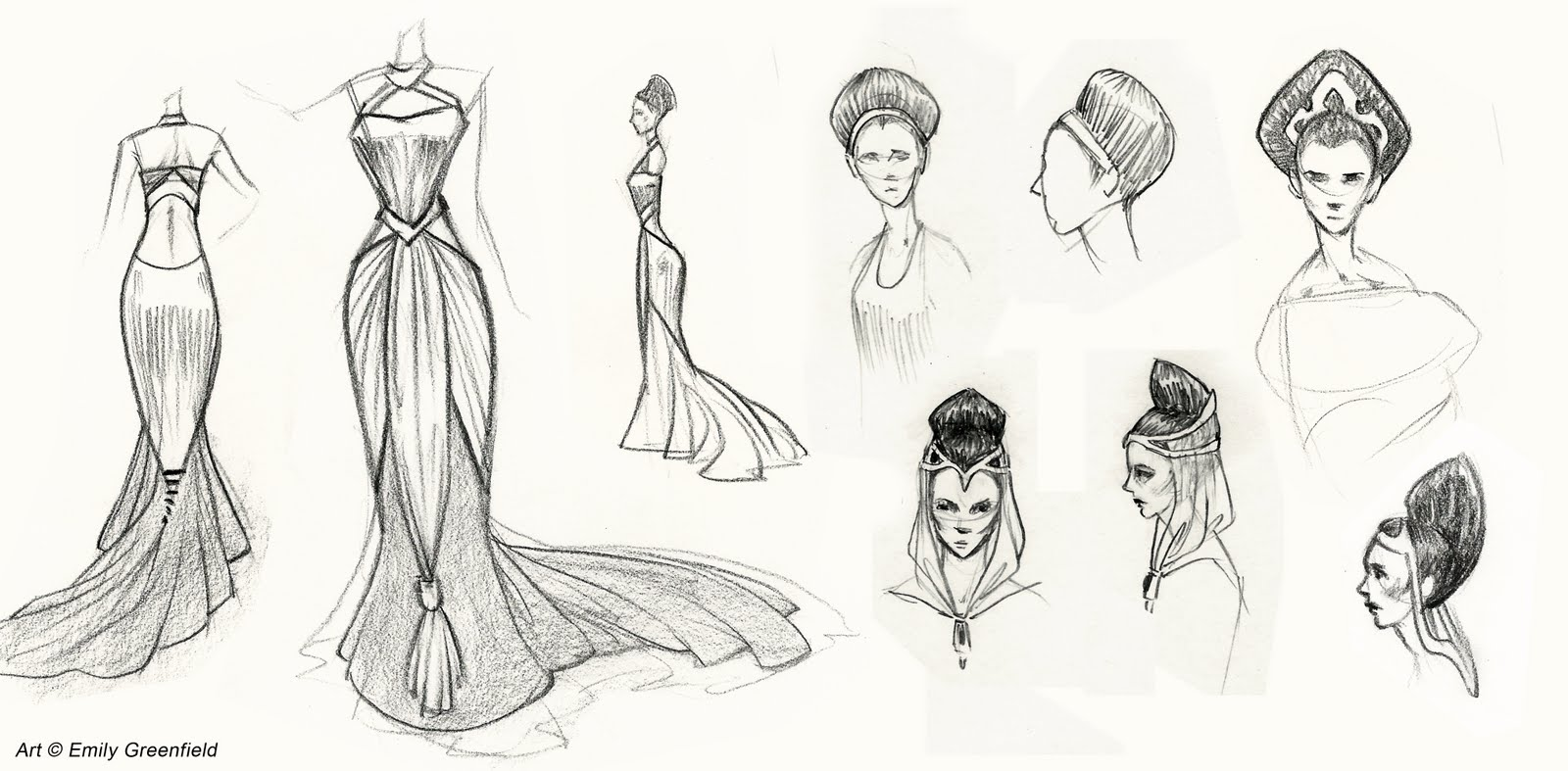 Simple Sketches of Hairstyles Sketches Female Hairstyles