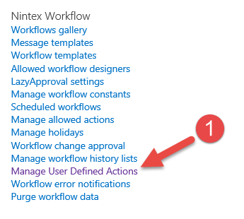 Nintex User Defined Action to get Emails from a SharePoint Group