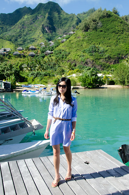 French Polynesia, Moorea, what to pack for beach vacation, shirt dress
