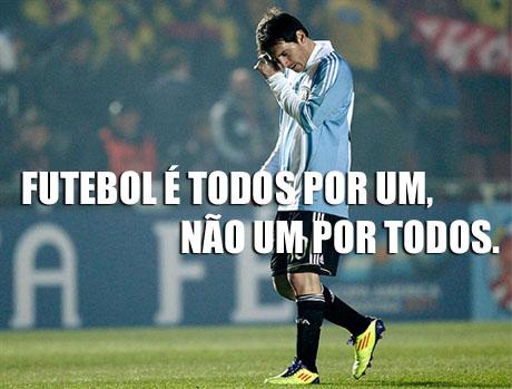 Argentina 0 x 0 Colômbia, Copa América, Fracasso da Argentina