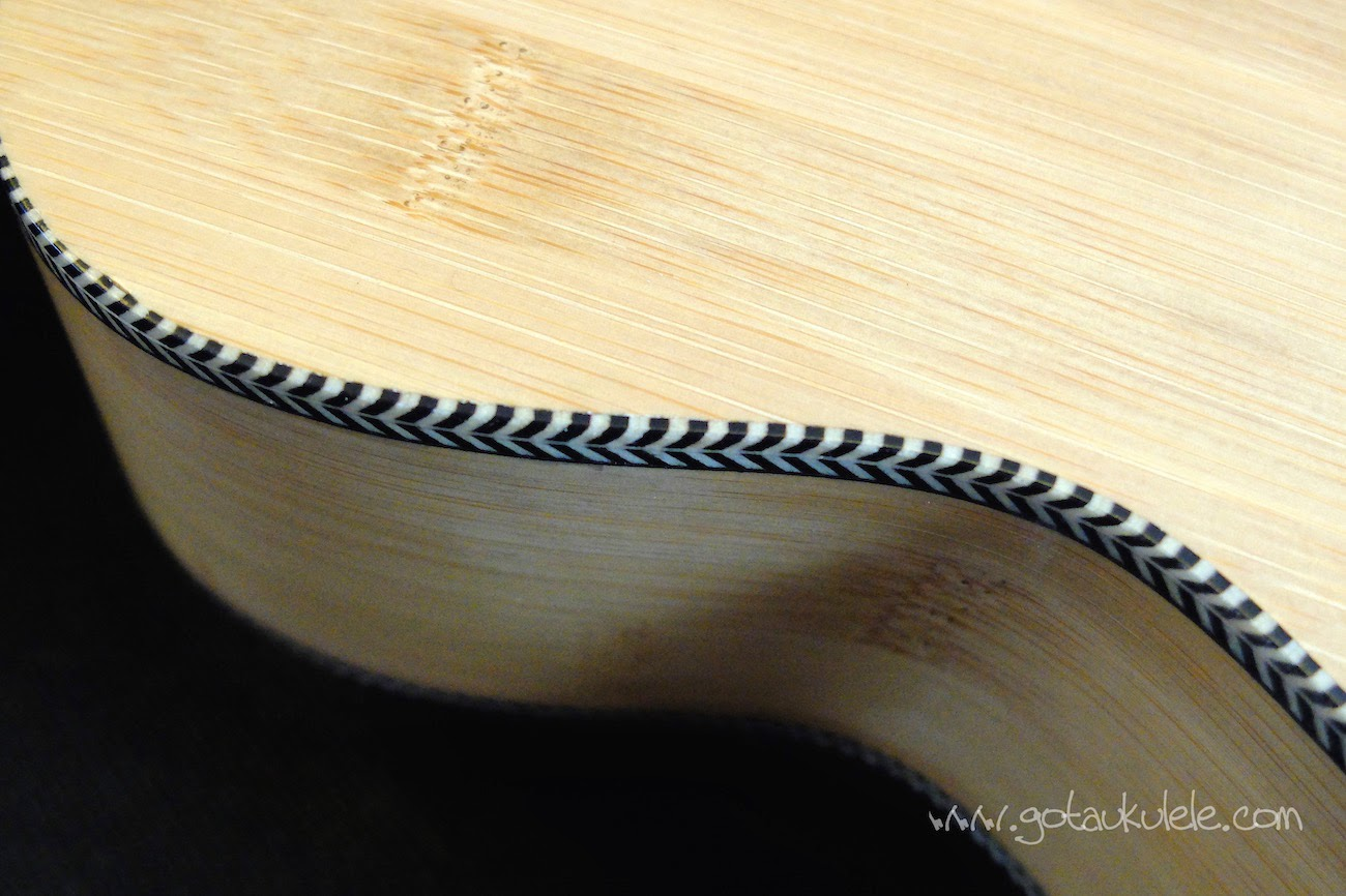 Moselele Solid Electro Bambookulele binding