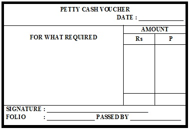 Petty Cash Payment Are Subject To An Upper Limit And Are Only Paid Out  After Being Counter Signed By A Member Of The Management.  Example Of Petty Cash Voucher
